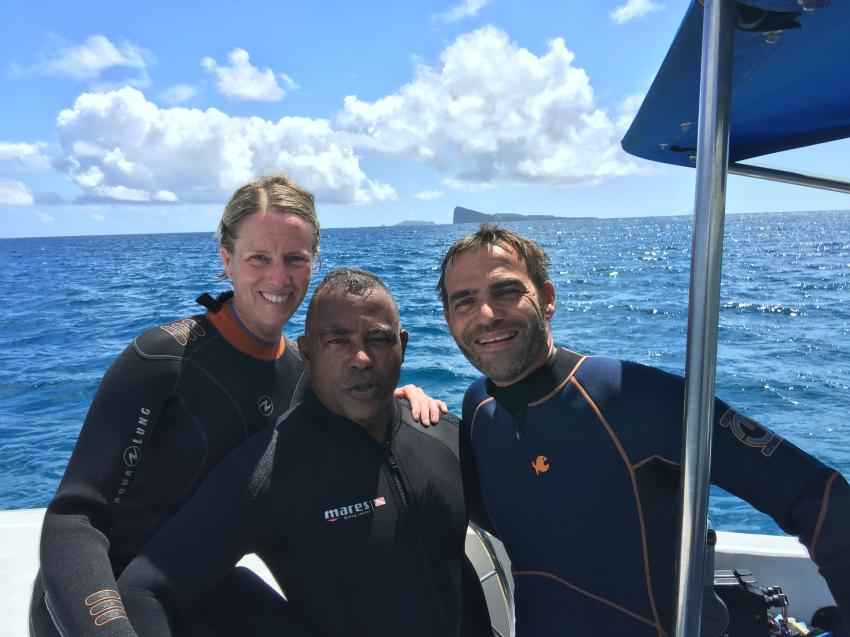 Lindsay - unser Tauchguide, Dive Tribe Mauritius, Mauritius