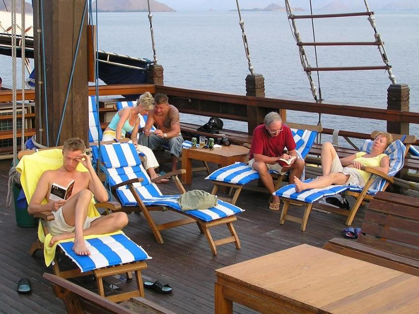 Sonnen deck, Komodo;safari;indonesien;indonesia;labuan bajo, Sea Safari 7, Indonesien, Allgemein
