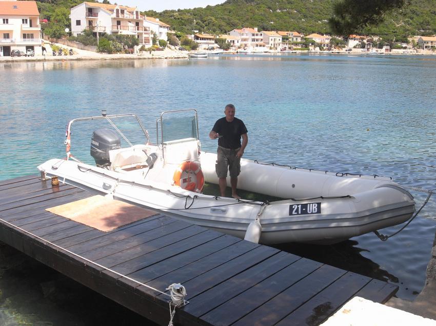 Insel Lastovo, Insel Lastovo,Kroatien,Schlauchboot,Zodiak