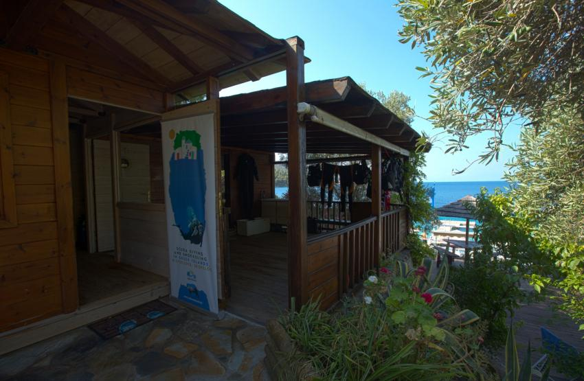 Diving base Panormos, scuba diving tauchen griechenland, Skopelos Dive Center, Panormos Skopelos, Griechenland