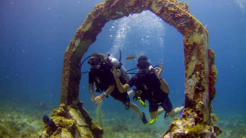MUSA mit ScubaCaribe, MUSA, Underwater Museum of Art, Jason deCaires Taylor, ScubaCaribe Cancun - RIU Hotels, Mexiko