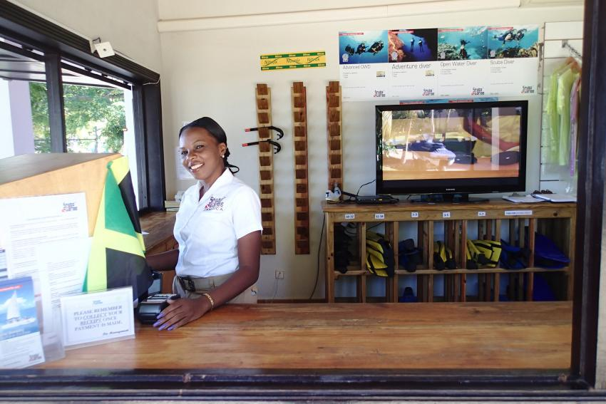 ScubaCaribe Negril RIU Palace Tauchbase, Scubacaribe RIU Tropical, Negril, Jamaika
