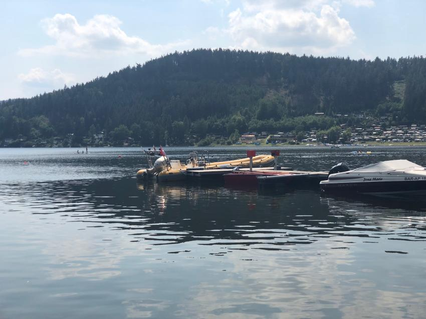 Boot, Wassersportzentrum Saalthal-Alter, Hohenwarte-Stausee, Deutschland, Thüringen