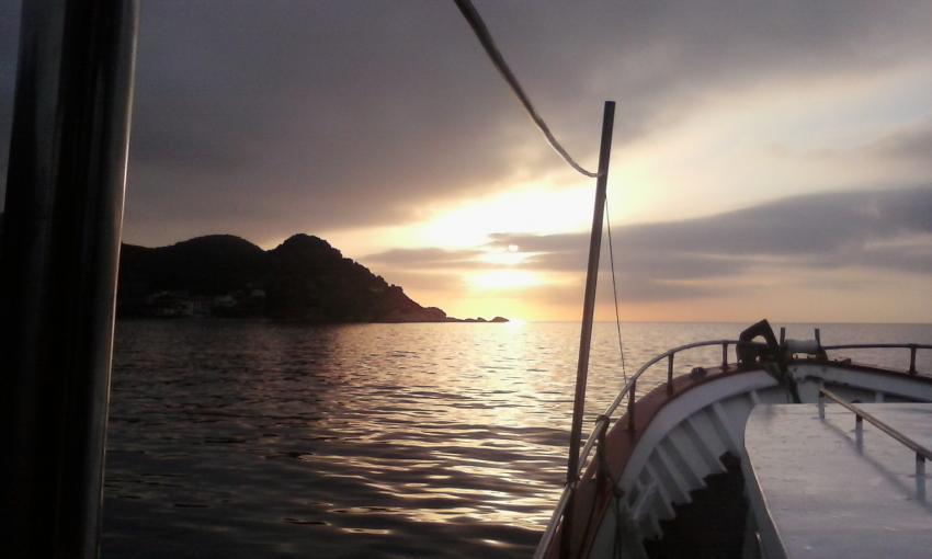 super Stimmung beim Rausfahren zu den Nachttauchgängen, tauchen elba nacht, Spiro Sub Diving Elba, Marina di Campo (Elba), Italien, Elba