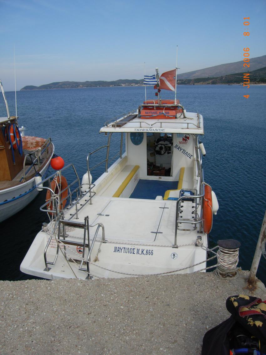 Potos / Insel Thassos, Potos,Insel Thassos,Griechenland,Tauchboot,Hafen