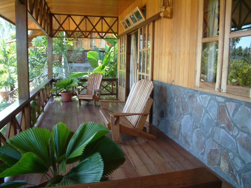 Freistehend Chalet Veranda, lumbalumba diving, manado, Indonesien, bunaken, tauchen, sulawesi, resort, Lumbalumba Diving Resort, Manado, Sulawesi