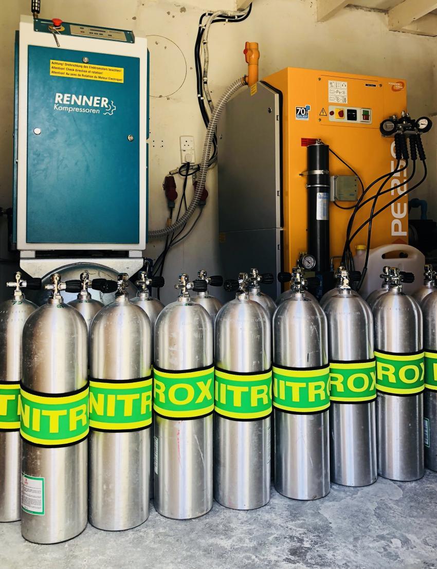 Nitrox ab sofort gratis für zertifizierte Taucher!!!, Nitrox, enriched air, for free, gratis, tauchen, Padi, Shamar Divers Maamigili, Malediven