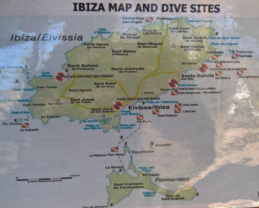 Tauchplätze, Punta Dive (Cala Martina), Spanien, Balearen
