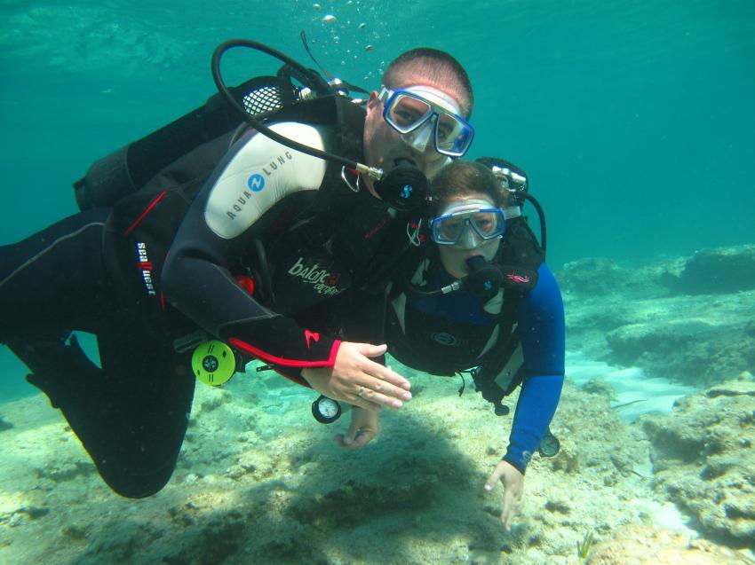 Beisammensein unter Wasser