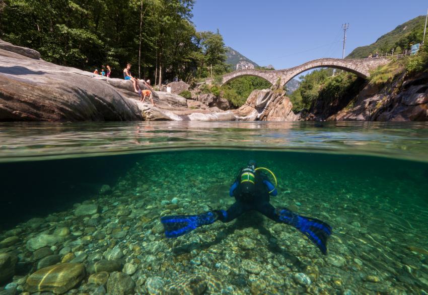 Verzasca Römerbrücke und Posse