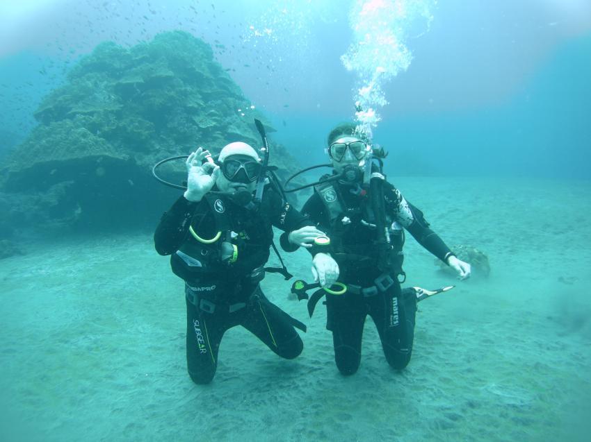 Ralf and Lisa-Marie, Yos Marine Adventures Bali, Indonesien, Bali