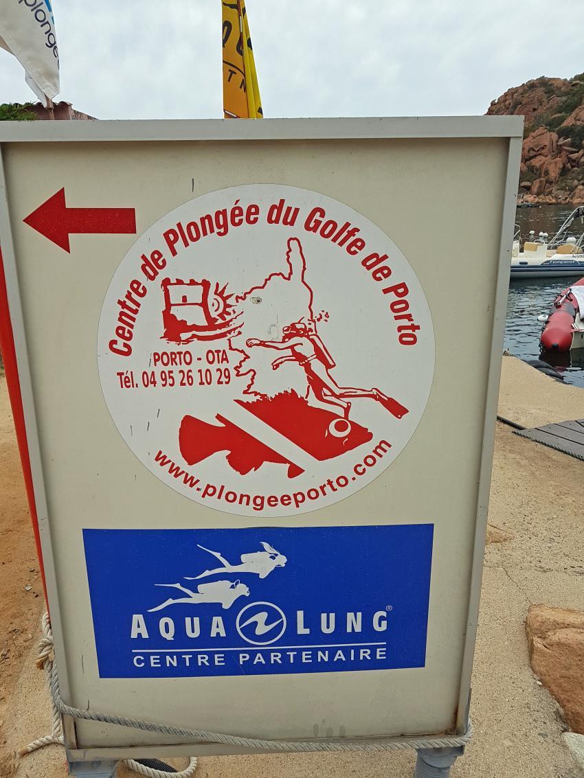 Plakat, Plongée Porto, Marine de Porto, Korsika, Frankreich