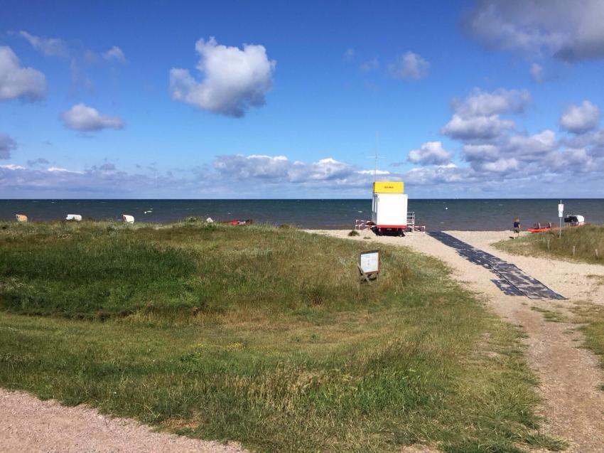 Strand direkt vor der Basis, Tauchschule Fehmarn, Deutschland, Schleswig-Holstein