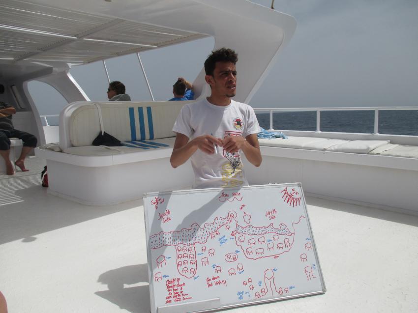 Brieving an Bord, Extra Divers - Equinox, Marsa Alam , Ägypten, Marsa Alam und südlich