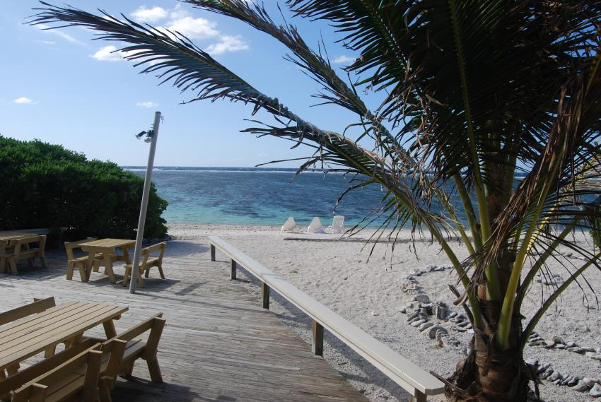 Blick vom Restaurant. , Lady Elliot Island Eco Resort, Australien
