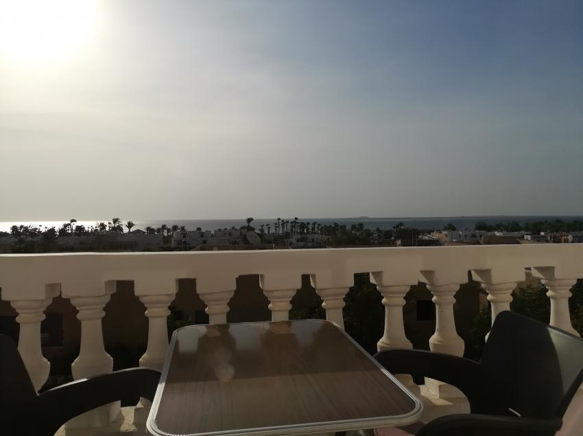 Blick vom Balkon, PANORAMA Guesthouse & Restaurant, Safaga, Ägypten, Safaga