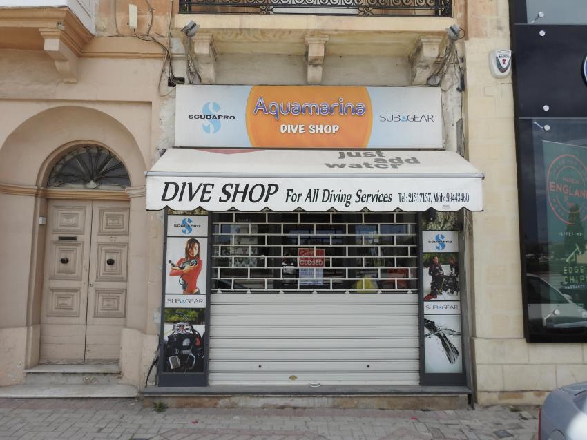 Aquamarina Dive Shop, Valletta, Malta