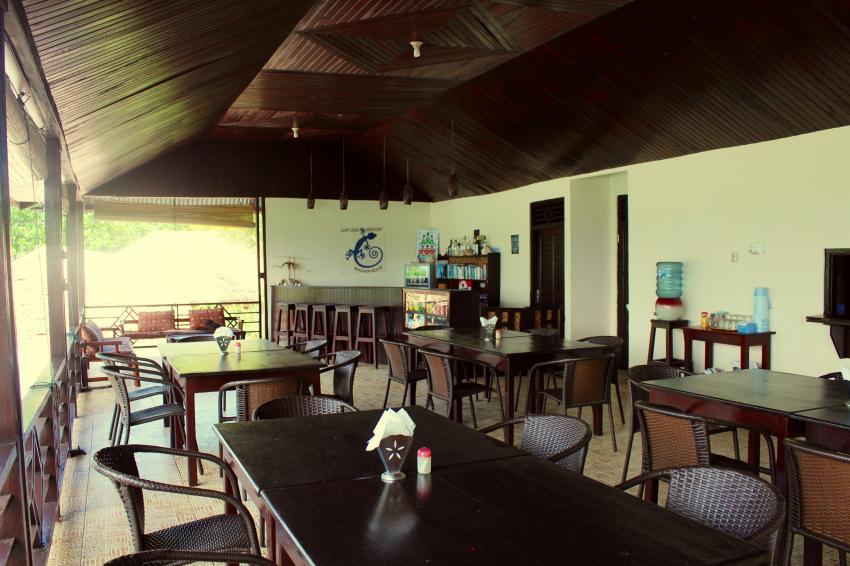 Restaurant area, Gecko Dive Center, Bunaken, Indonesien, Sulawesi