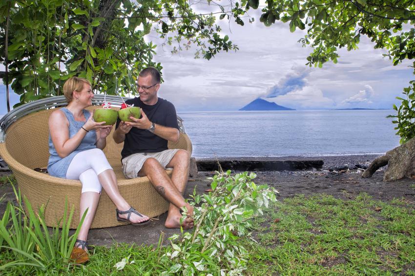 Manado Tua view, Murex Manado, Manado Tua, Indonesia, Sulawesi, Bunaken, Murex Dive Resorts - Manado, Indonesien
