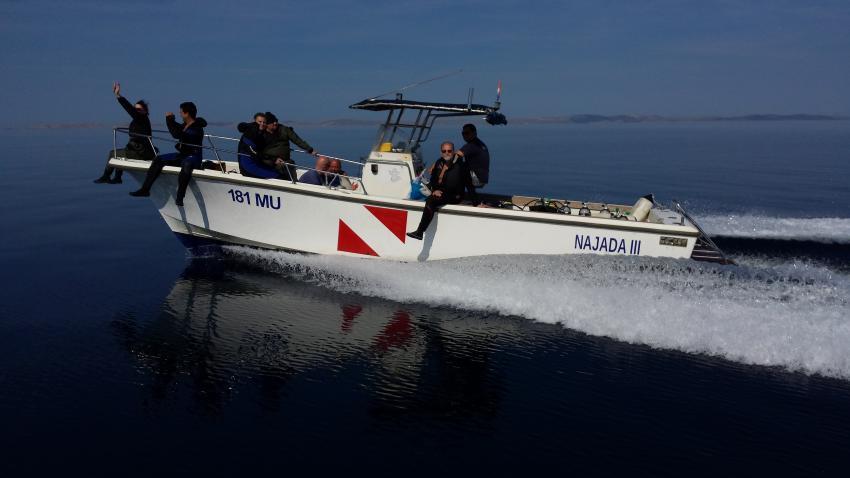 Najada III, Boot Najada, Najada diving, Murter, Kroatien