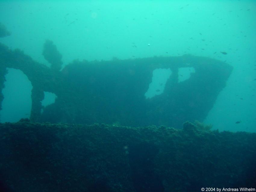 St. Elmo Bay,Valetta - Wrack HMS Maori, Wrack der HMS Maori,St. Elmo Bay,Valetta,Malta