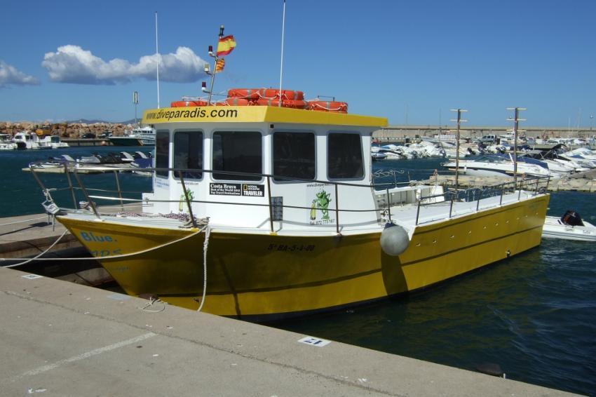 Eines der Boote, Dive Paradis, l'Escala, Spanien, Spanien - Festland