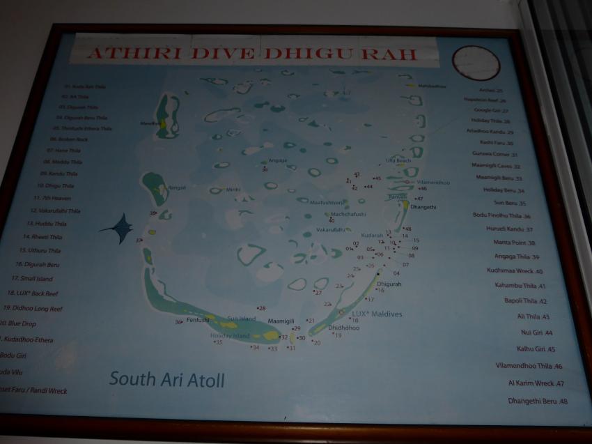 Die Tauchplätze im Süd Ari Atoll, Medhufushi, Diving Center Werner Lau, Meemu Atoll, Malediven