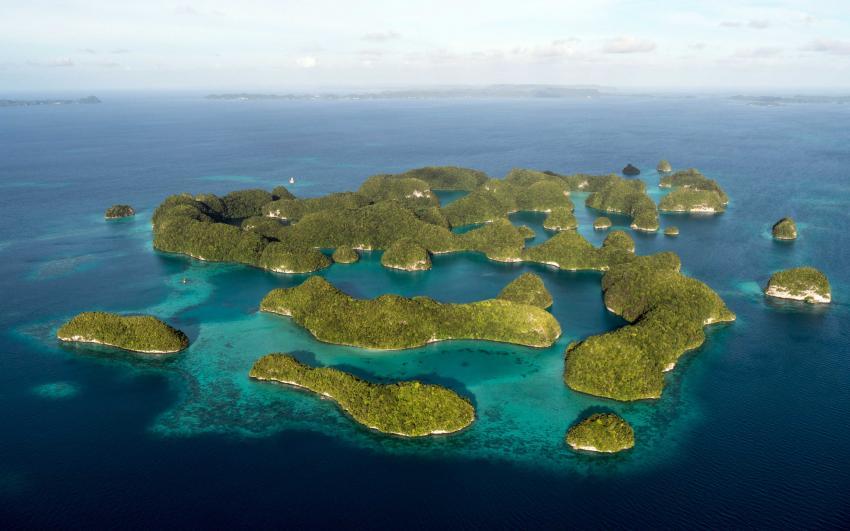 Palau Safari, Palau allgemein,Palau,Vogelperspektive,Luftaufnahme