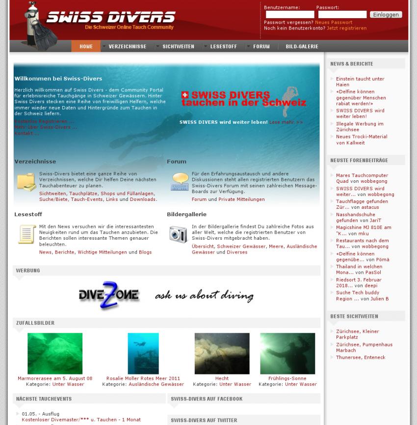 Siwss Divers www.swiss-divers.ch, Schweiz, Swiss Divers, Forum