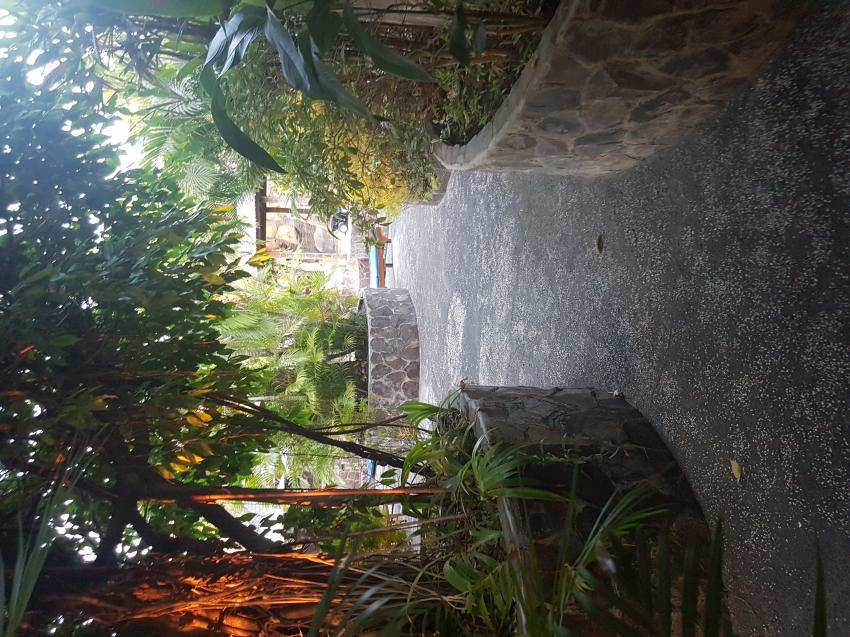 Blick von meiner Terrasse, Joes Diving Bali - Die Tauchburg, Tulamben, Indonesien, Bali