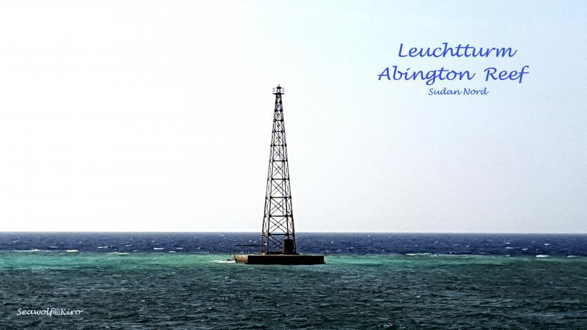 Abington Reef unbemannter Leuchturm, Sudan Riffkarte Seawolf Diving Safari Dominator Abington Hammerhai, Abington Ostplateau, Sudan