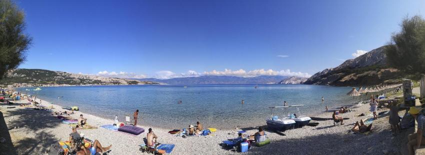 Strand Baska, Squatina Diving, Insel Krk - Kroatien - Baska, Kroatien
