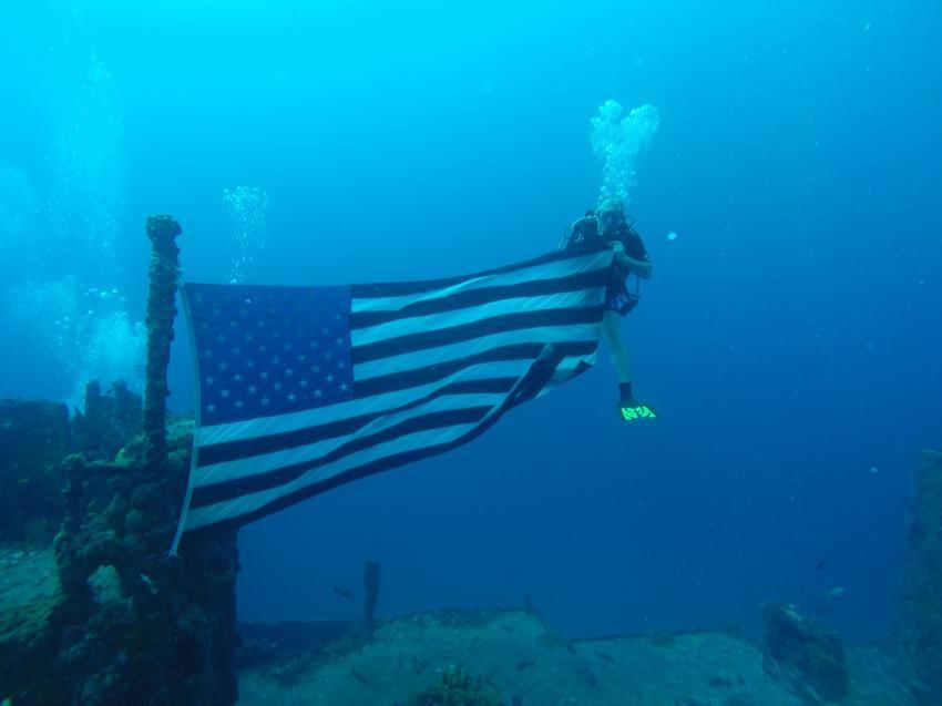 USCC Duane , Wrack und Tief Tauchgang, Sons of Poseidon, Key Largo, USA, Florida