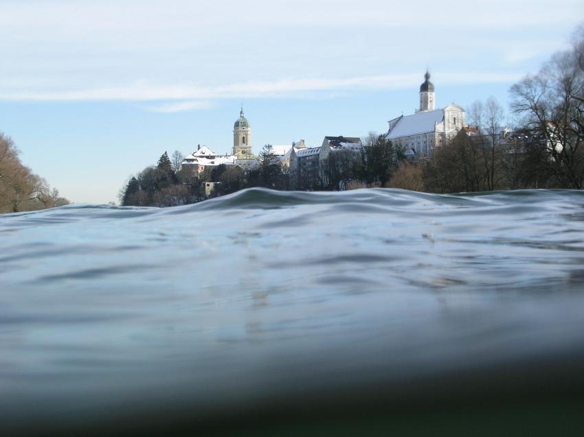 Donauschwimmen in Neuburg/Donau, Donau,Neuburg,Bayern,Deutschland,Fluss