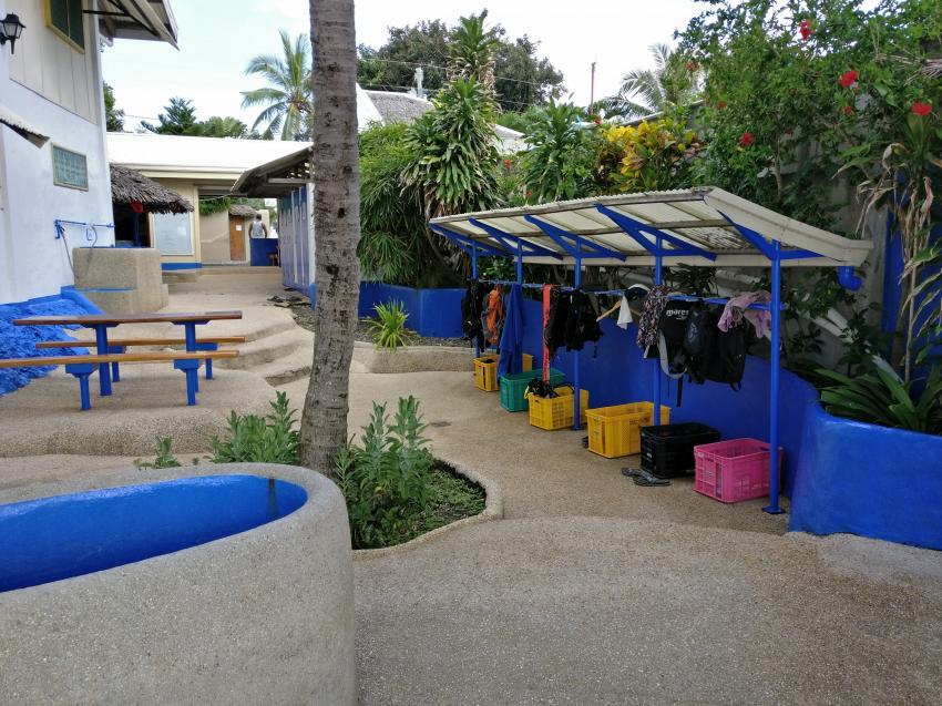 vorderer Sitzbereich, Blue Abyss Dive Shop, Cebu, Philippinen