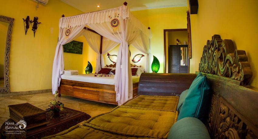 Schmetterlingsappartment, Bali, Unterkunft, Tauchbasis, Amed Scuba Tauchzentrum, Amed - Tulamben, Indonesien