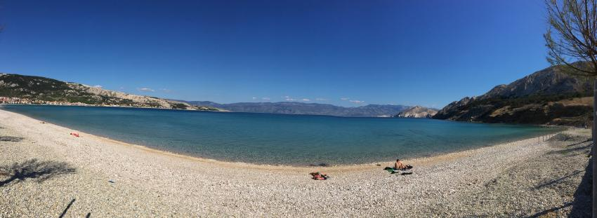 wunderschöner Strand vor unserer Haustür, Squatina Diving, Baska, Insel Krk, Kroatien