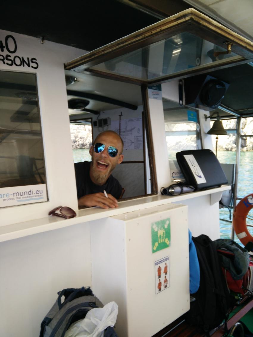 Tauchausfahrt, Styria Guenis Diving Center Krk, Styria-Guenis-Diving-Center, Insel Krk, Kroatien