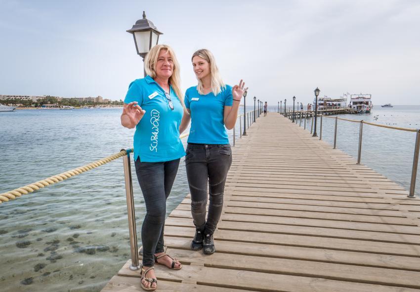Scuba World Diver Makadi Bay -  Unsere Rezeptionistinnen, Tauchen in der Makadi Bay, Scuba World Divers Makadi Bay, Ägypten, Hurghada