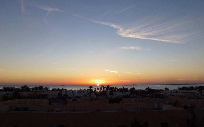 Mein Ausblick vom Balkon, Pension Panorama, Safaga, Ägypten, Pension Panorama, Safaga