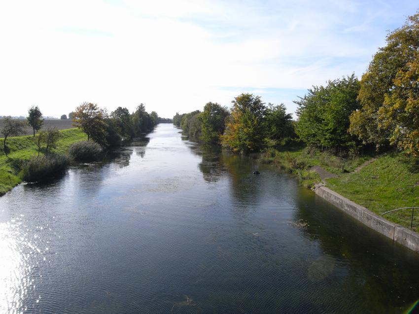 Saale - Elster kanal, Saale-Elster-Kanal,Sachsen,Deutschland,Kanal,Landschaft,Bäume,Einsteig
