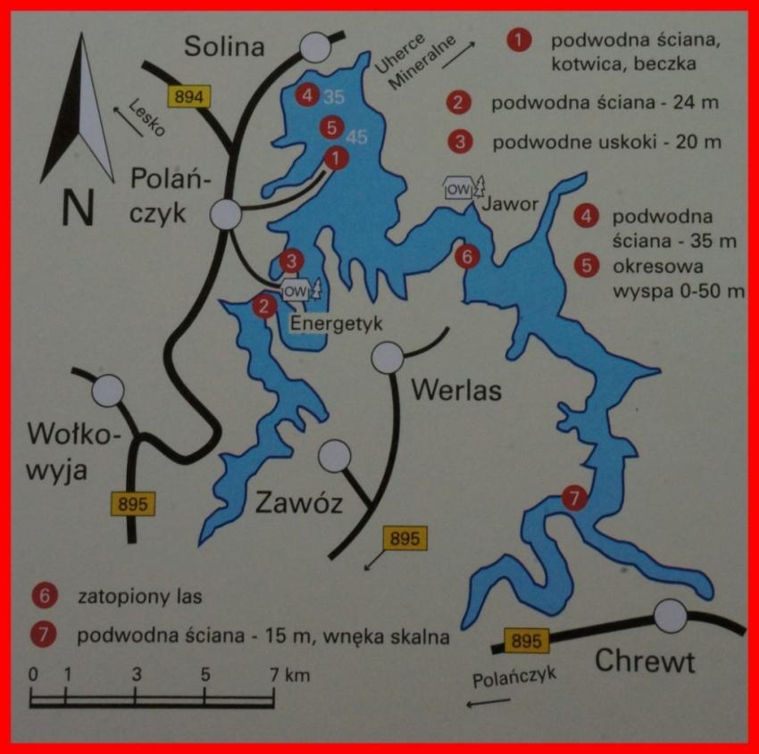 Jezioro Solińskie, Solina, Polen
