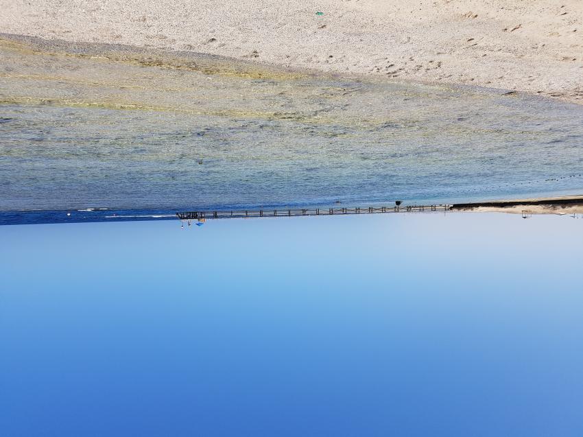 Housreef mit Steg, ORCA Dive Club Moreen Beach, Ägypten, Marsa Alam und südlich
