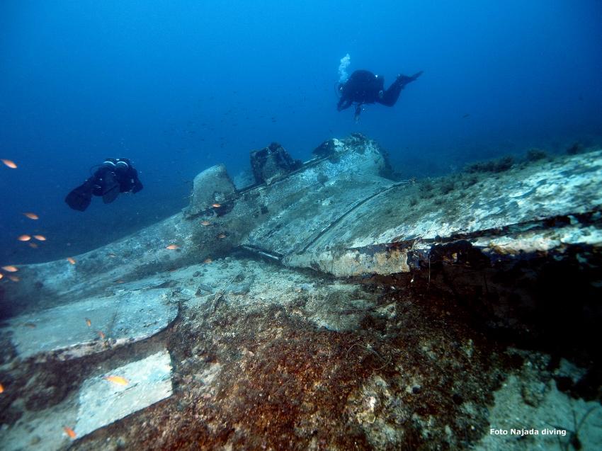 Stuka, Sturzkampfflugzeug Ju 87 - Konzession Najada diving, Najada diving, Murter, Kroatien, Flugzeugwrack, Stuka