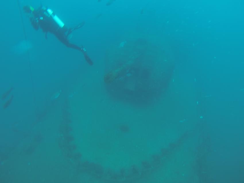 Kanone der Fregatte, GoPro 3, Dive Club Cipreia, Lagos, Portugal