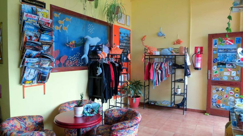 Eingangsbereich Tauchschule Buceo Sub La Palma, Buceo-Sub La Palma, Spanien, Kanarische Inseln