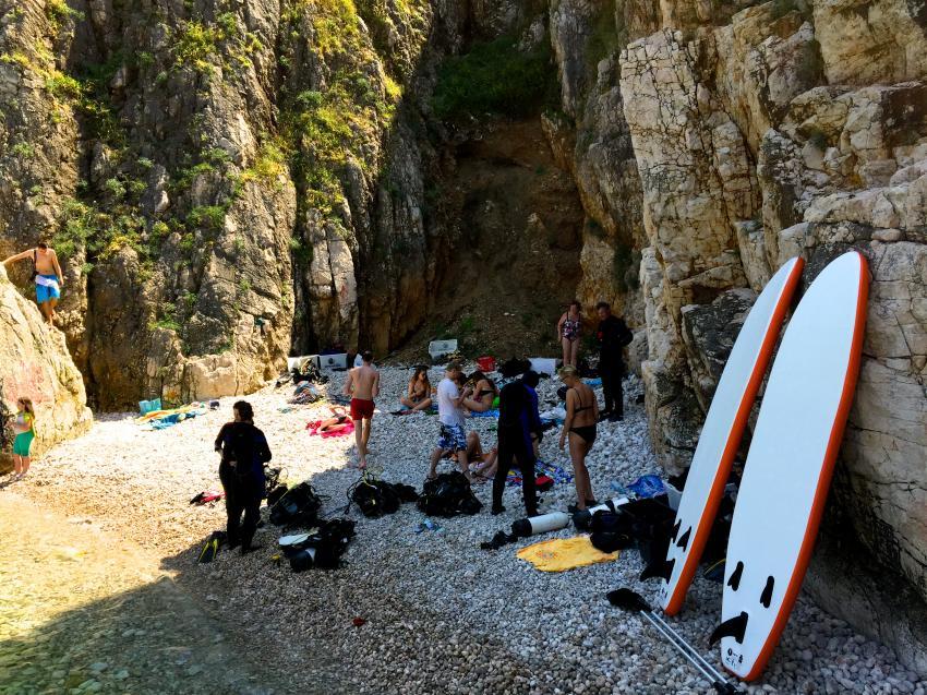 Secret Beach Vrbnik, Insel Krk, Dive Loft Krk, Vrbnik, Insel Krk, Kroatien