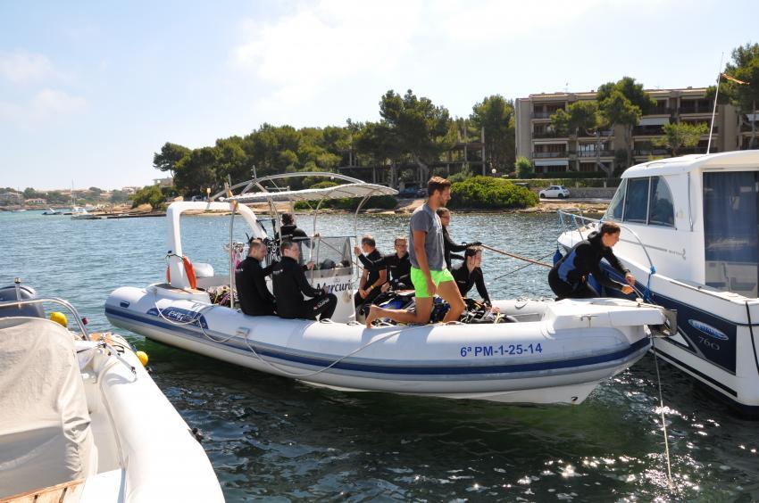 East Coast Divers Speedboot, Porto Colom, Mallorca