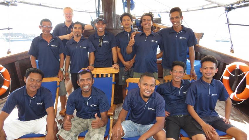 Moana Crew, Moana Cruising - Liveaboard Komodo, Indonesien