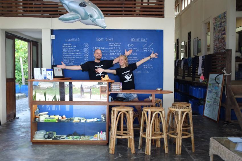 Die Rezeption, Lumba Lumba Diving Center, Pulau Weh, Sumatra, Indonesien, Allgemein